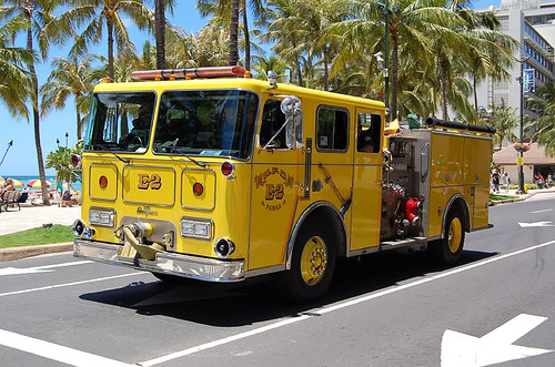fire engine yellow